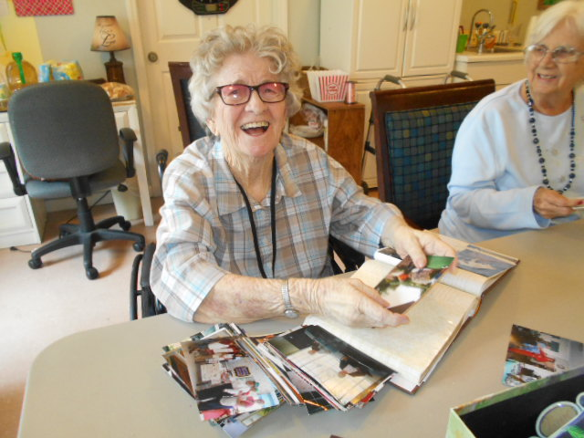 Crown Cypress Assisted Living - scrapbooking